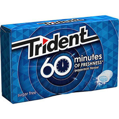 Picture of Past TRIDENT 60 Minutes Peppermint 20gr