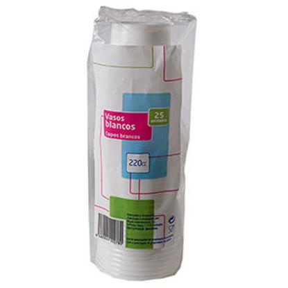 Picture of Copo Plastico Branco 220Cl 25Un