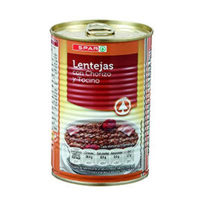 Picture of Lentilhas SPAR Chouriço Toucinho Lata 430gr