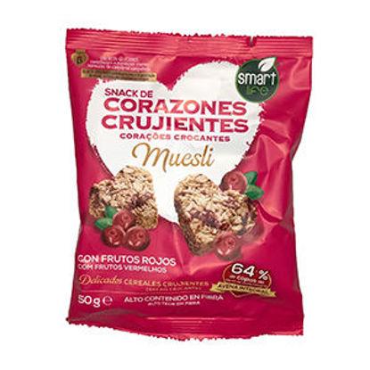 Picture of Corações Crocante Frutos Verm 50gr