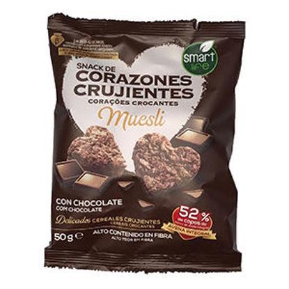 Picture of Corações Crocante Chocolate 50gr