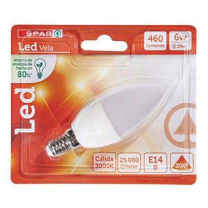 Picture of Lampada SPAR Vela Led 6W E14 3000K 460LM 1un