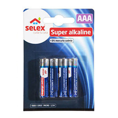 Picture of Pilhas SELEX Alcalinas LR03 4un
