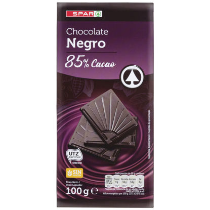 Picture of Chocolate SPAR Negro 85% Cacau 100gr