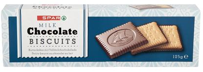Imagem de Bisc SPAR Chocolate Leite 125gr