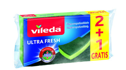 Imagem de Esfregao Esponja VILEDA Ultra Fresh 2+1 un