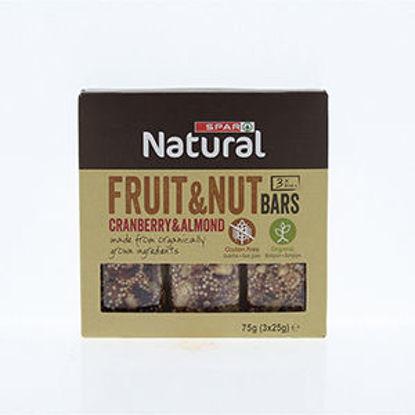 Picture of Barras Cer SPAR Natural Cranberry Almond 3x25gr