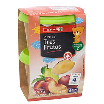 Picture of Puré Fruta SPAR 3 Frutas 2x200gr