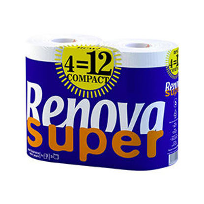Picture of Papel Hig RENOVA Super Compact 4Rolos