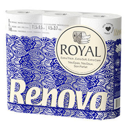 Picture of Papel Hig RENOVA 4 Folhas Royal 9Rolos