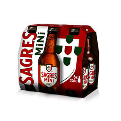 Picture of Cerveja SAGRES Brc Mini Easy Op 6x0,20lt