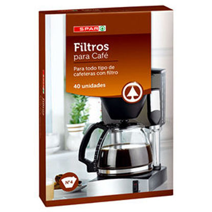 Picture of Filtro Café SPAR N4 40un