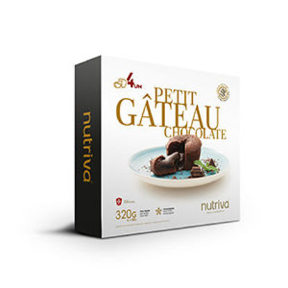 Imagem de Petit Gâteau NUTRIVA Chocolate 4x80gr