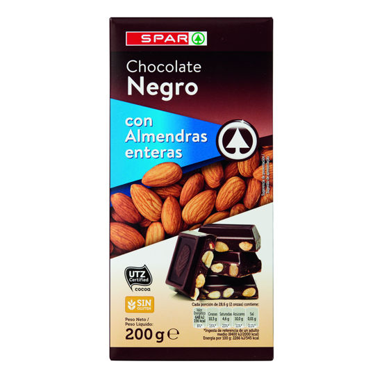 Picture of Chocolate SPAR Negro C/ Amêndoa 200gr