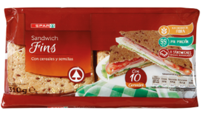 Picture of Pão SPAR Sandwich Thins 310gr