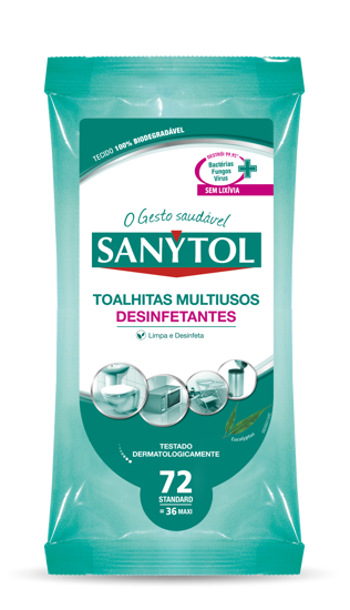 Imagem de Toalhitas SANYTOL Multiusos Des 36un