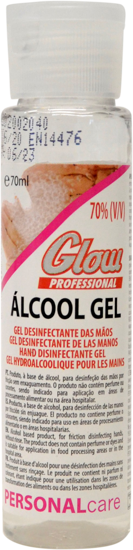 Picture of Gel Maos Desinf GLOW 70% Alcool 70ml