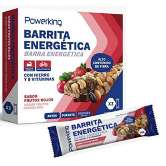 Imagem de Barra Energ POWERKING Frut Verm 3x35gr