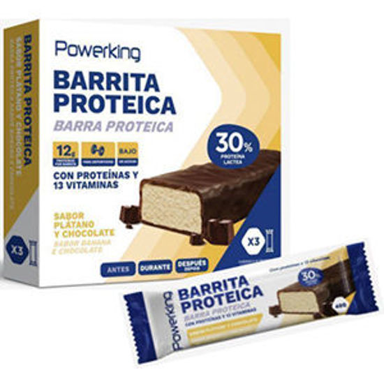 Picture of Barra Prot POWERKING Ban Choc 3x40gr