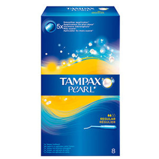 Picture of Tampoes TAMPAX Pearl Regular 8un