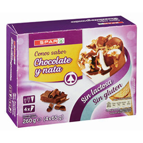 Picture of Cone SPAR Nata Choc S/Gl S/Lt 4x120ml