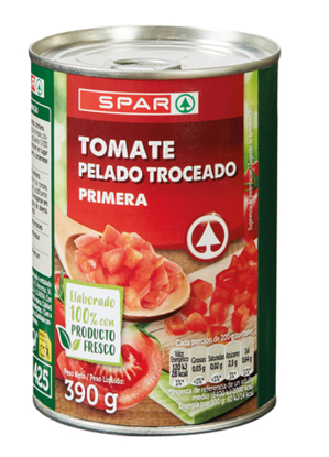 Imagem de Tomate SPAR Inteiro Pelado 390gr